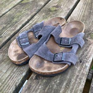 2 Strap Suede Birkenstock Sandals Size 36